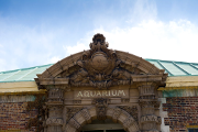 The entrance of Belle Isle Aquarium.