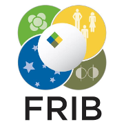 The Facility for Rare Isotope Beams (FRIB)'s logo.