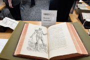 Picture of Andreas Versalius' book Human Anatomy