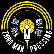 """Third Man Pressing"" Record with globe and man"