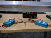 Two switches and a ruler set up for acceleration exploration.
