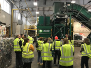 Image of a tour of the MSU Recycling Center.