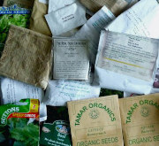 An image of various packets of seeds.